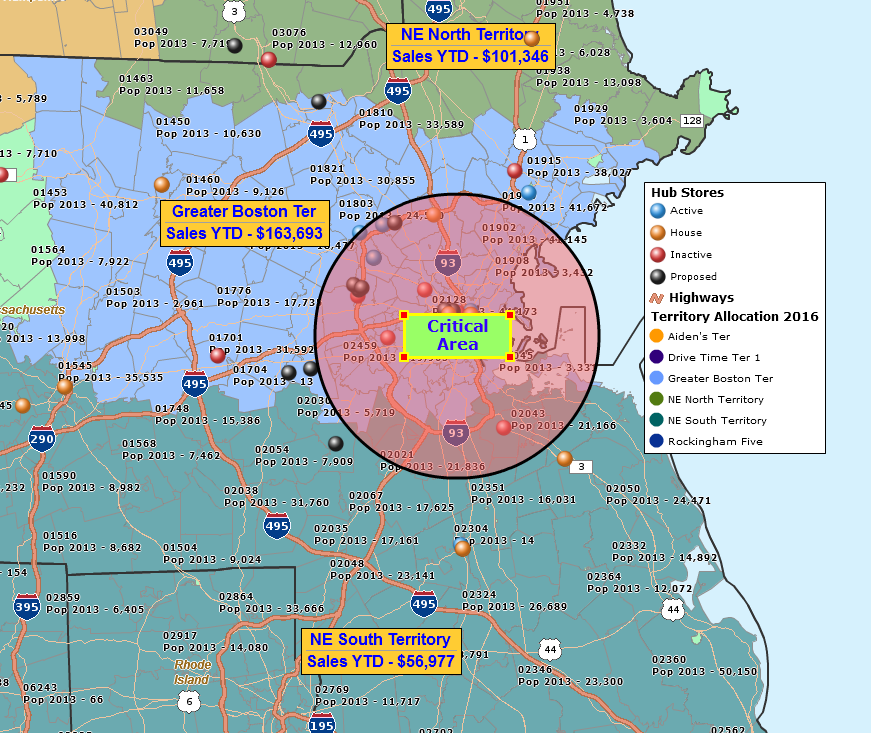 Business Mapping The Last Mile For Your CRM Implementation - Us sales territory map