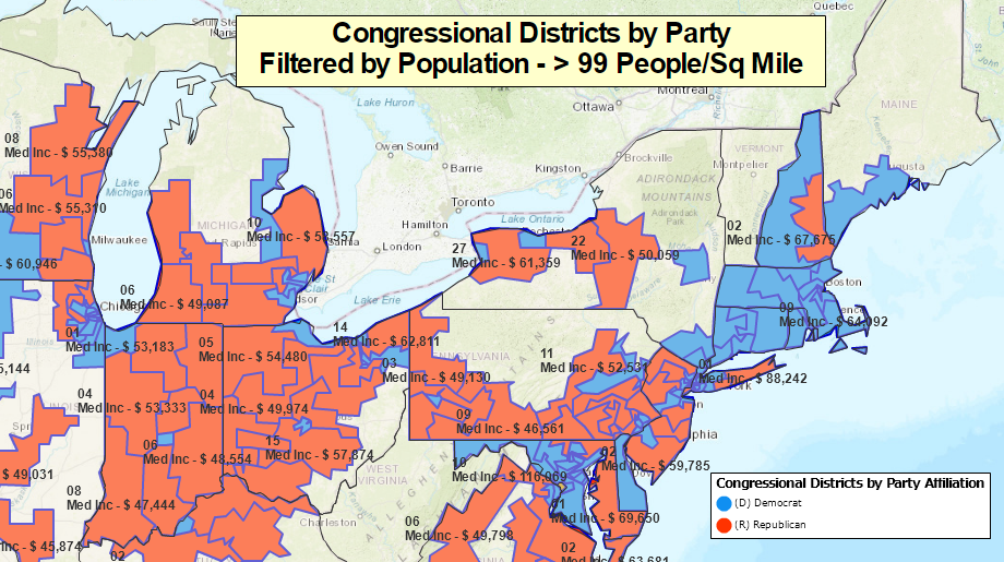 Congressional Districts by Party Affiliation