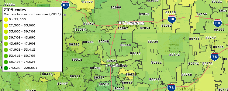 Demographics By Zip Code Map.Demographic Mapping Software Mapping By Zipcode For Businesses