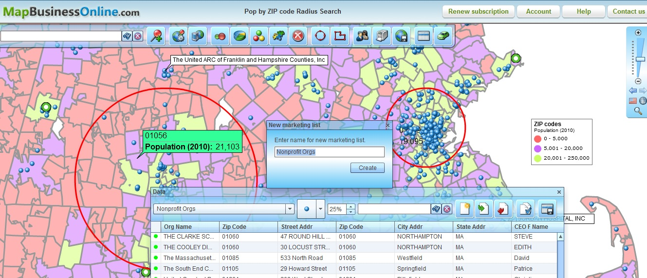 Radius Search Maps for Business | Create Radius Maps Online on