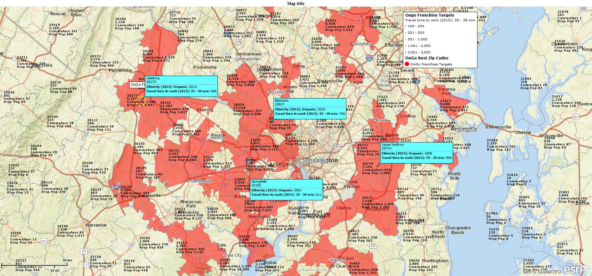 Demographic Mapping by ZIP Code with Map Business Online